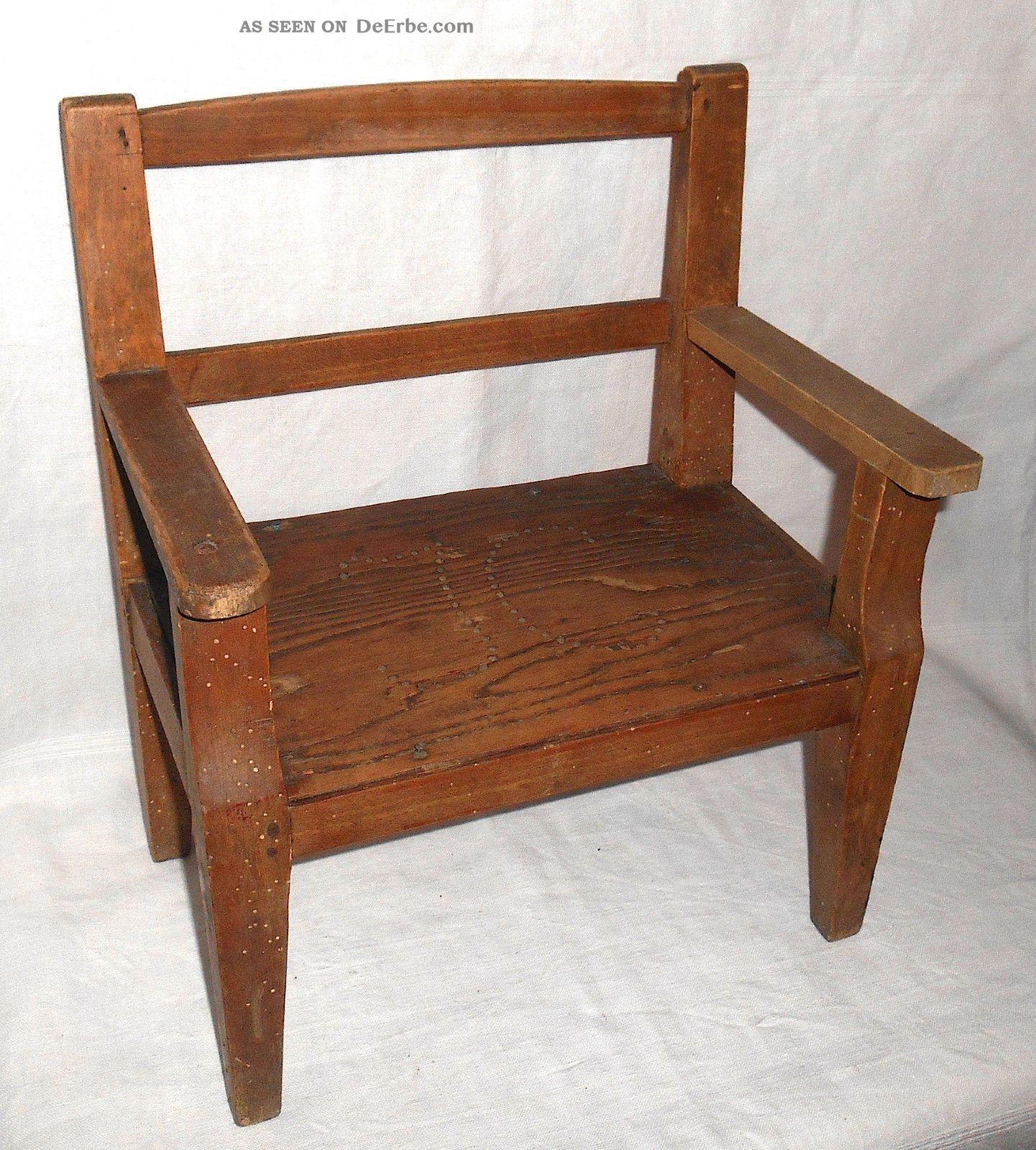Antiker Stuhl Für Kleinkinder Bänckchen Evetuell Für Den