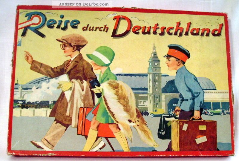 reise durch deutschland spielplan und ovp um 1935 ohne spielfiguren. Black Bedroom Furniture Sets. Home Design Ideas