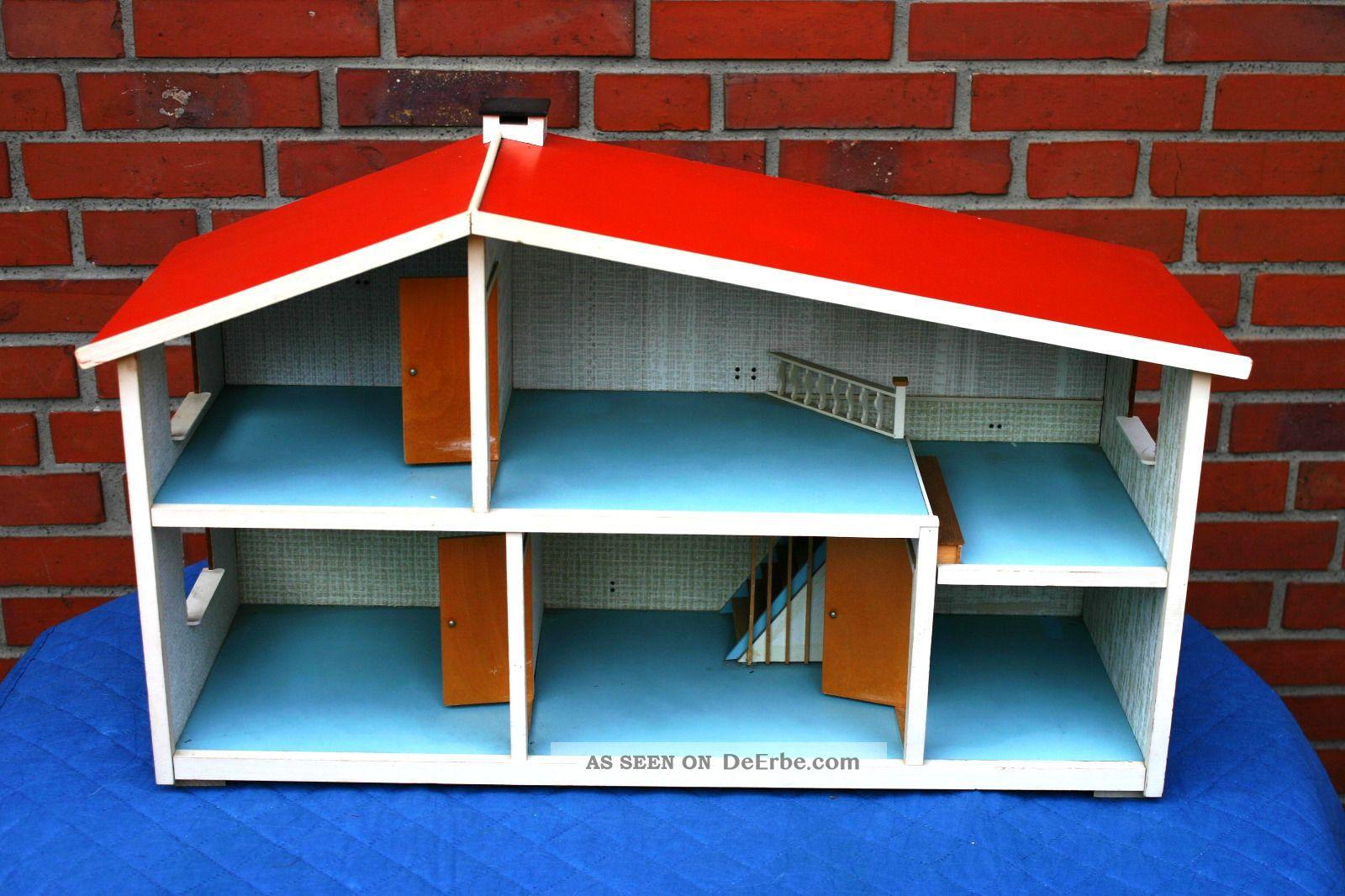 altes puppenhaus von lundby 60er 70er jahre mit elektroinstallation. Black Bedroom Furniture Sets. Home Design Ideas