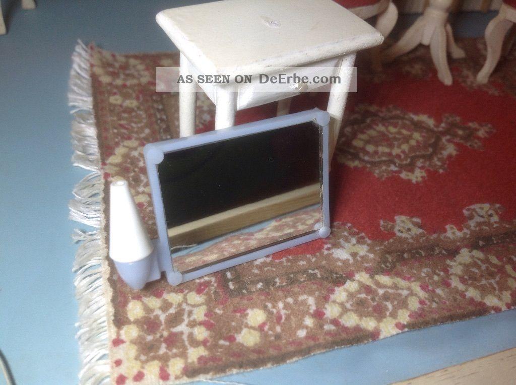 lundby puppenhaus badezimmer lampe mit spiegel und beleuchtung 70 er jahre. Black Bedroom Furniture Sets. Home Design Ideas