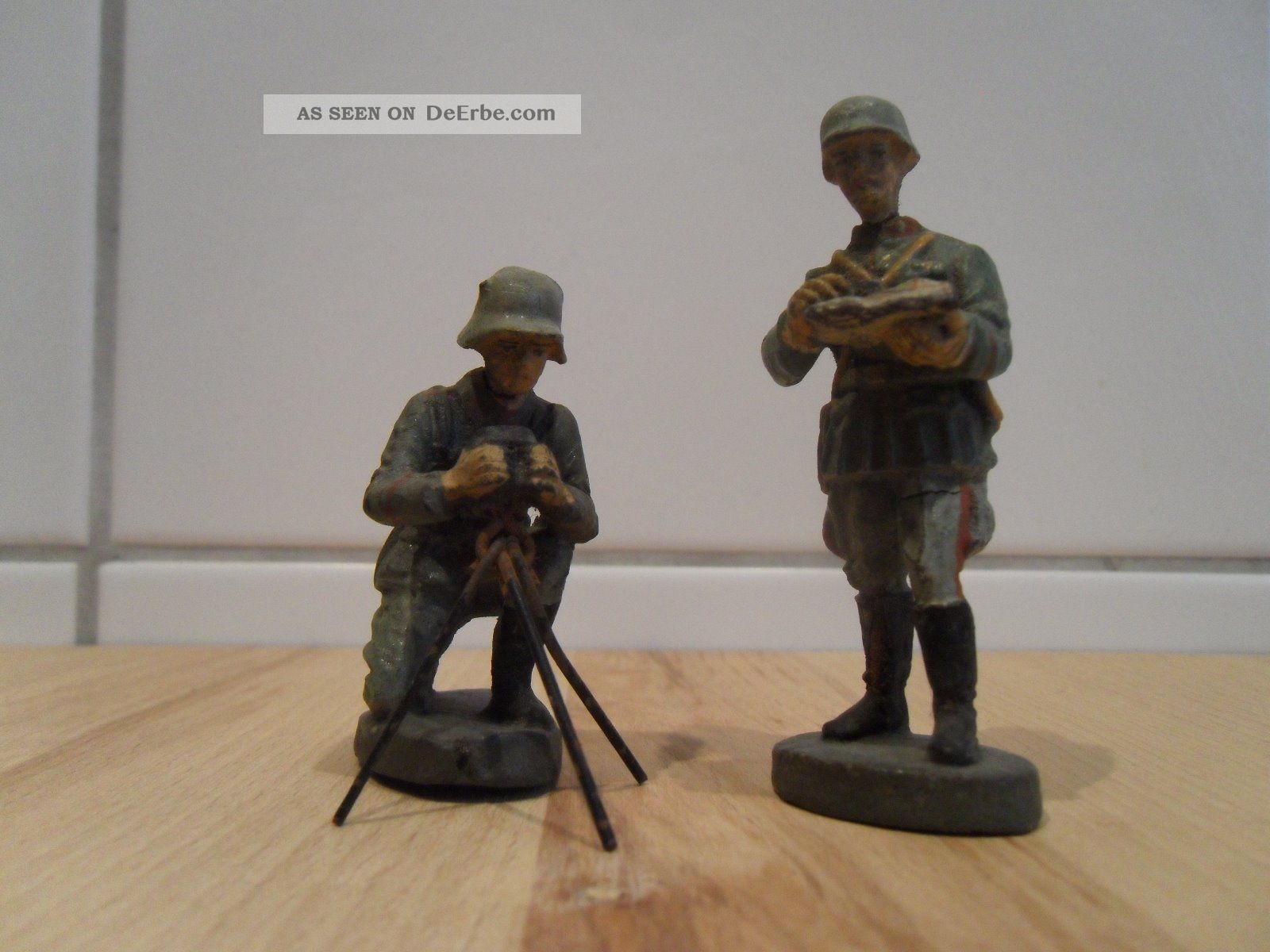 Elastolin soldaten im feld kartenleser entfernungsmesser