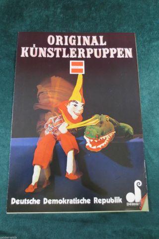 Seltene Reklame Katalog 1979 Küstlerpuppen Dresden Marionetten Mecki Indianer Bild