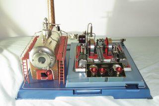 Wilesco Größte Dampfmaschine D 32 El.  Doppelzylinder Bild