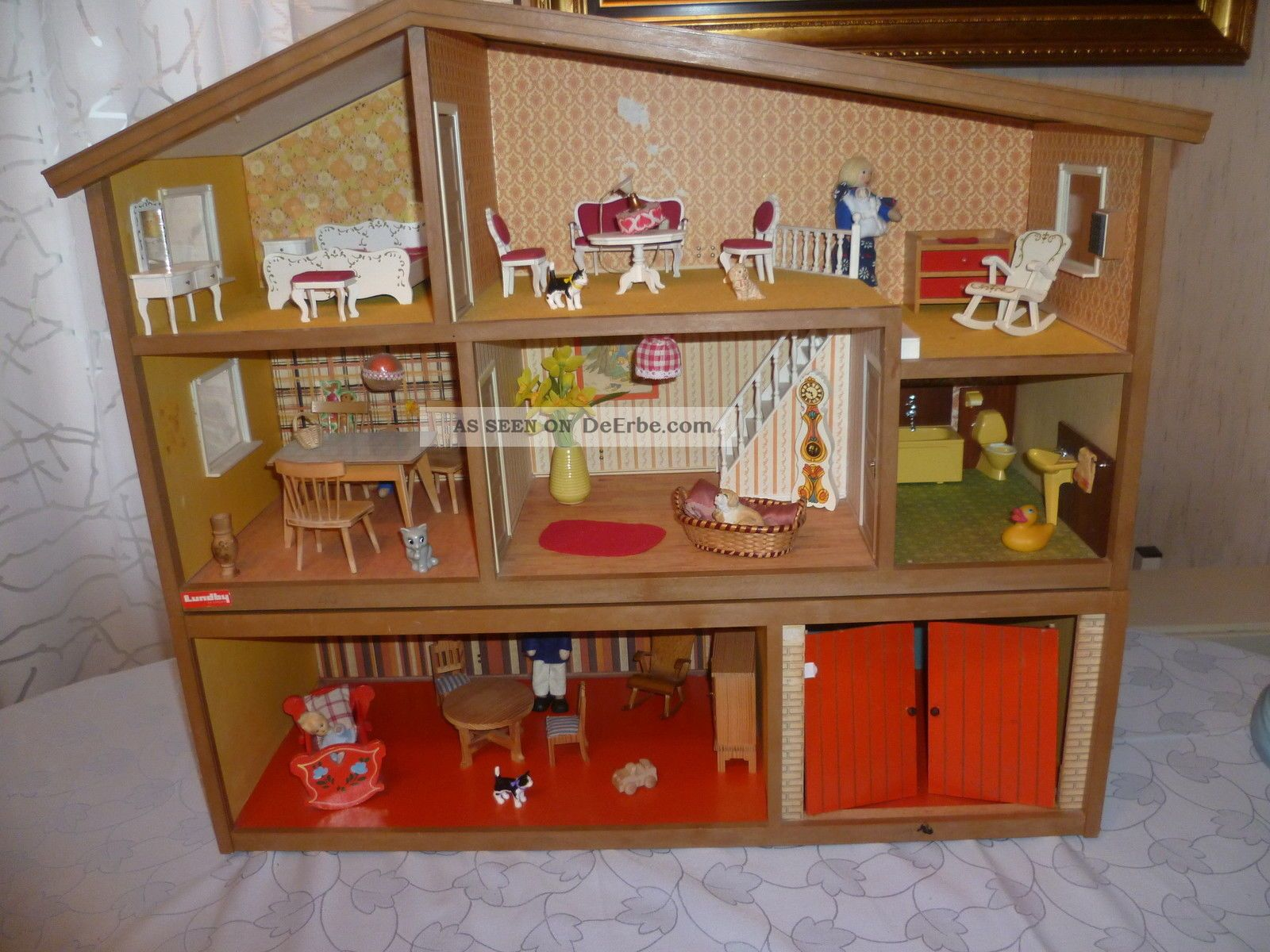lundby puppenhaus eingerichtet mit m bel. Black Bedroom Furniture Sets. Home Design Ideas