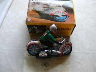 Konvolut China Blechspielzeug - 2 Motorräder (mit Frictionsantrieb) Bild