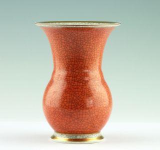 Feine Royal Copenhagen Craquelé Porzellan Vase Craquele Danish Design 1950 Bild