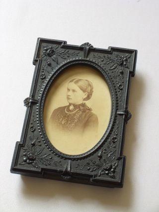 Wunderschöner Kleiner Bilderrahmen Jugendstil Gründerzeit Um 1910 Bakelit O.  ä. Bild