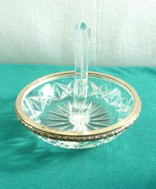 Wunderschöne Ringhalter Schale 800 Er Silber Kristall Bild