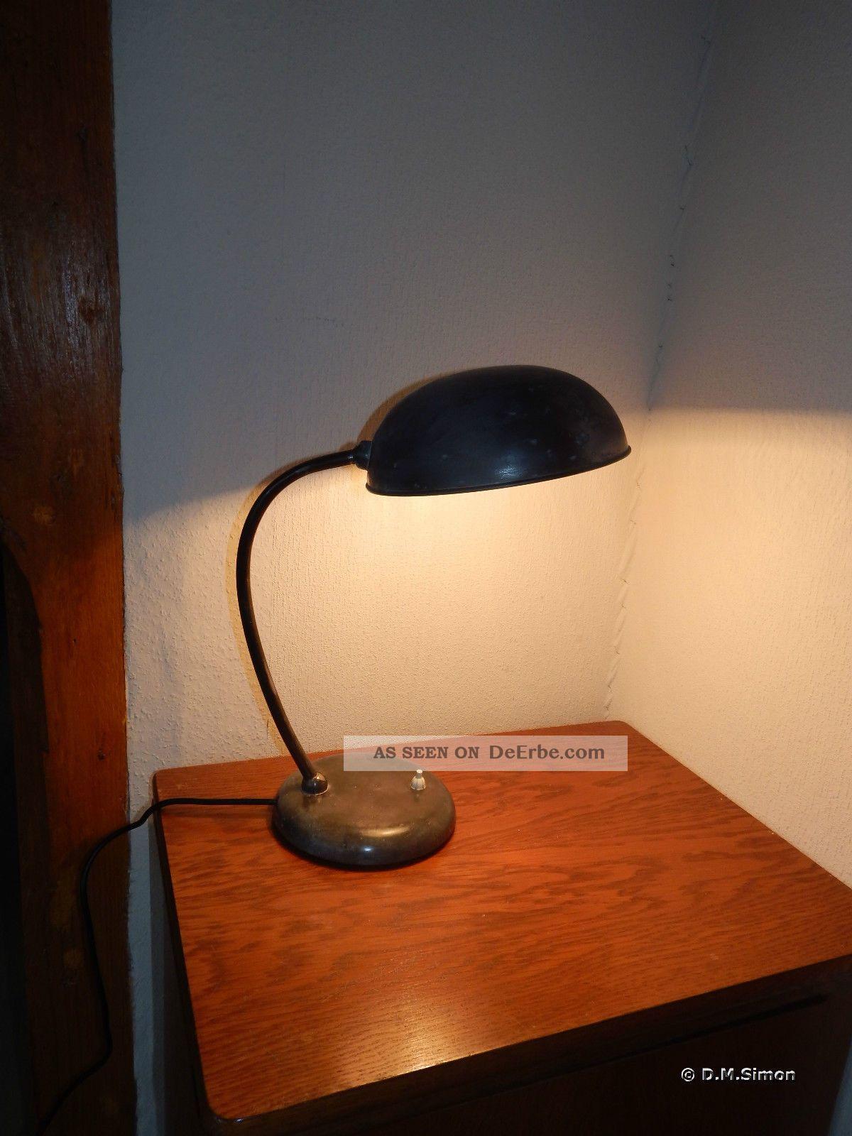 Schreibtischlampe Tischleuchte Lampe Leuchtetischlampe 30er Art Deco Bauhaus 1920-1949, Art Déco Bild