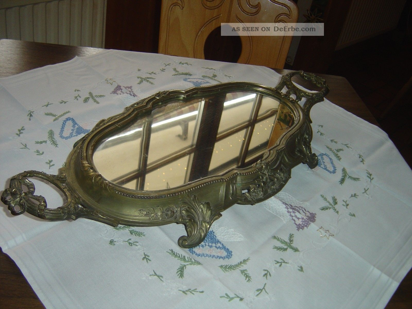 Orfevrerie dilecta antikes tableau mit spiegel 1920 art deco jugendstil - Deco spiegel ...