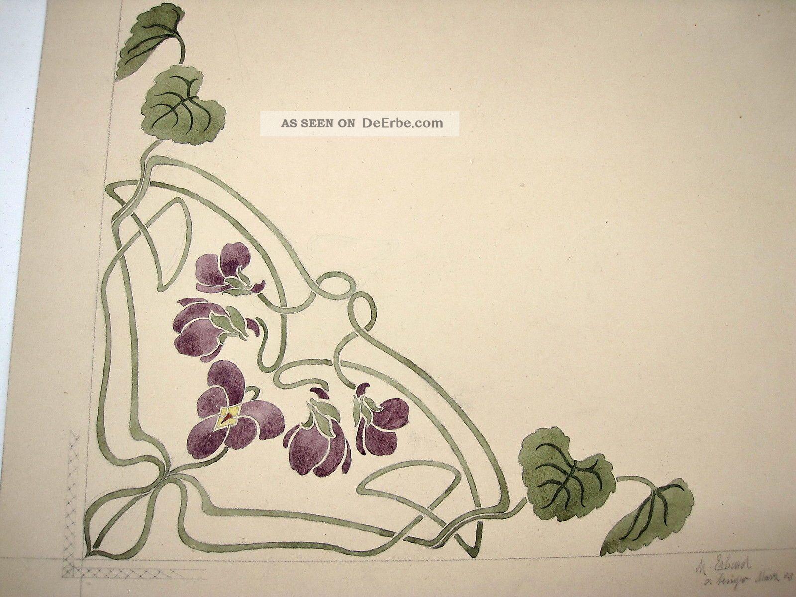 SchÖn Jugendstil Zeichnung 1903 A.  Nachlaß 1890-1919, Jugendstil Bild