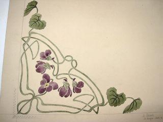 SchÖn Jugendstil Zeichnung 1903 A.  Nachlaß Bild