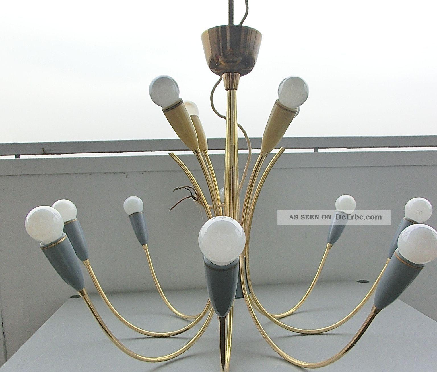 Lampe lamp mid century vintage deckenlampe 50er 50s 60er for Lampen 50er design