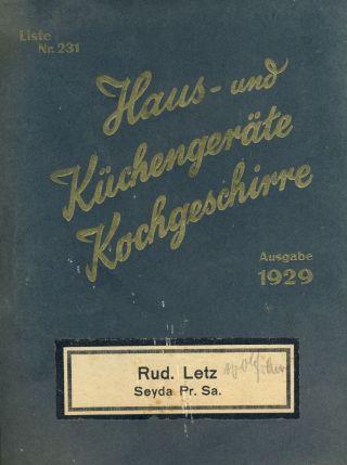 Alter Warenkatalog 1929 Der Firma Letz,  Seyda Bei Jessen Bild