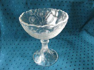 Jugendstil Fußschale Kleiner Tafelaufsatz Schale Floral Shabby Pressglas Blumen Bild