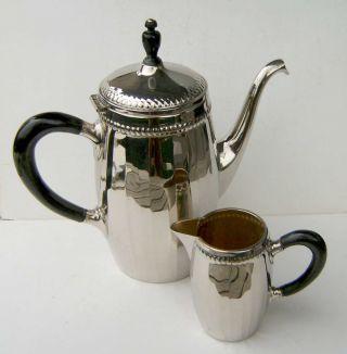 Alter Kaffeekern,  Kaffeekanne,  Milchkännchen,  Wmf,  Straußenmarke,  Jugendstil Bild