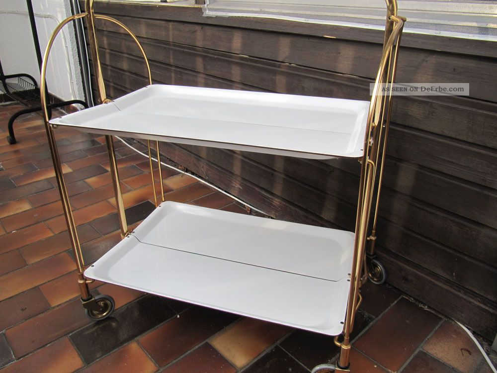 dinett servierwagen teewagen 50 60 70er jahre wei. Black Bedroom Furniture Sets. Home Design Ideas