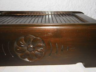 Jugendstil Tisch - Rolladenschrank Kleiner Rollschrank Mit Schublade Schränkchen Bild