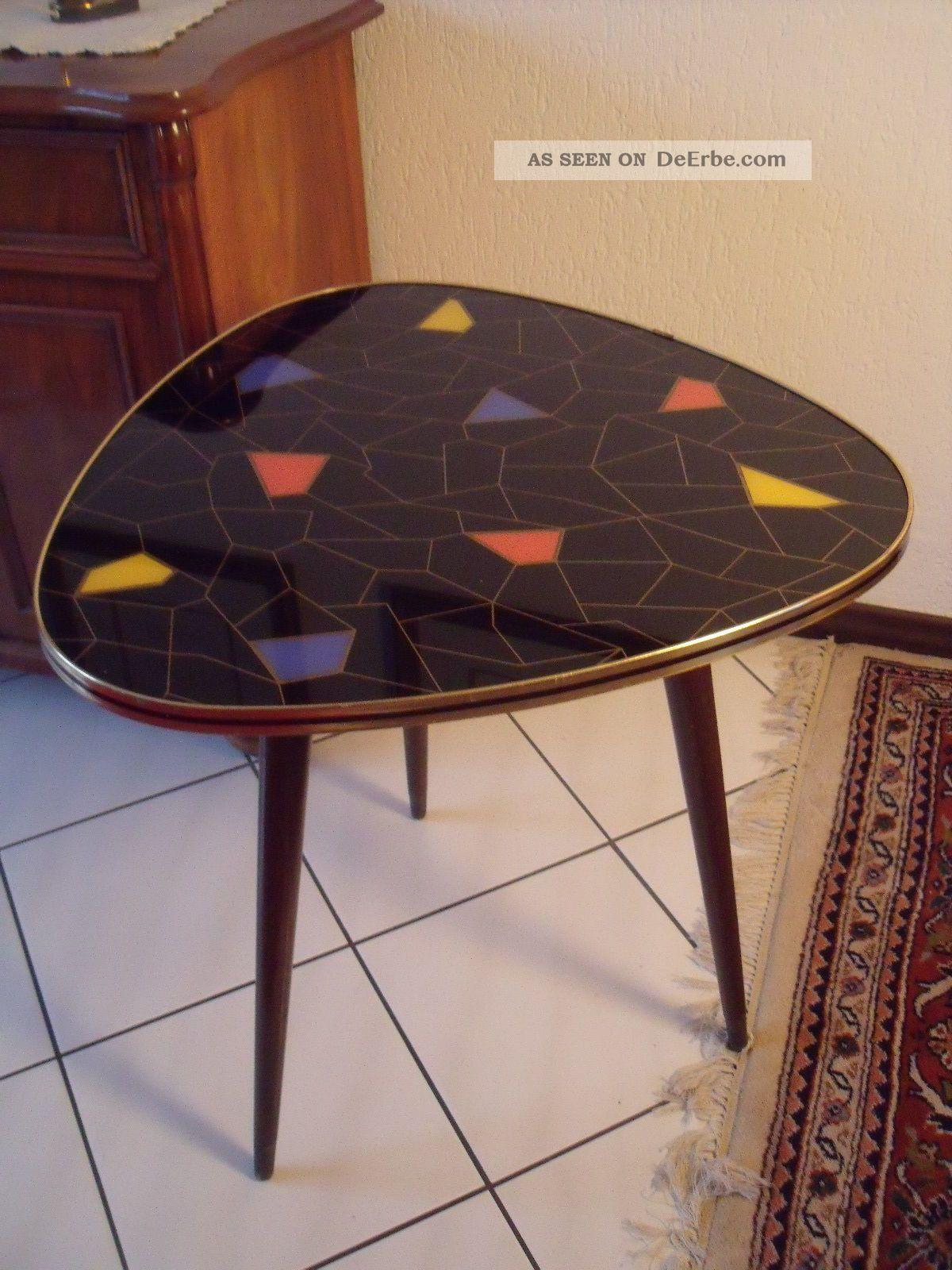 50er jahre nierentisch mit glasplatte for Stuhl design epochen