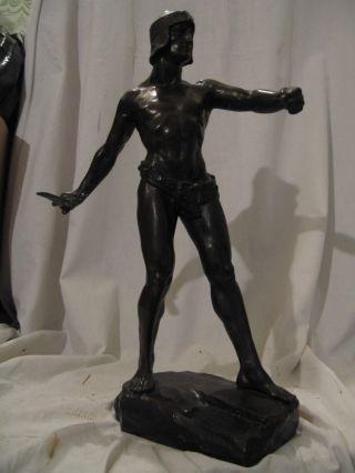 "Große Signierte Figuren Bronze ""j.  Ulrich"" Um 1915 Bild"