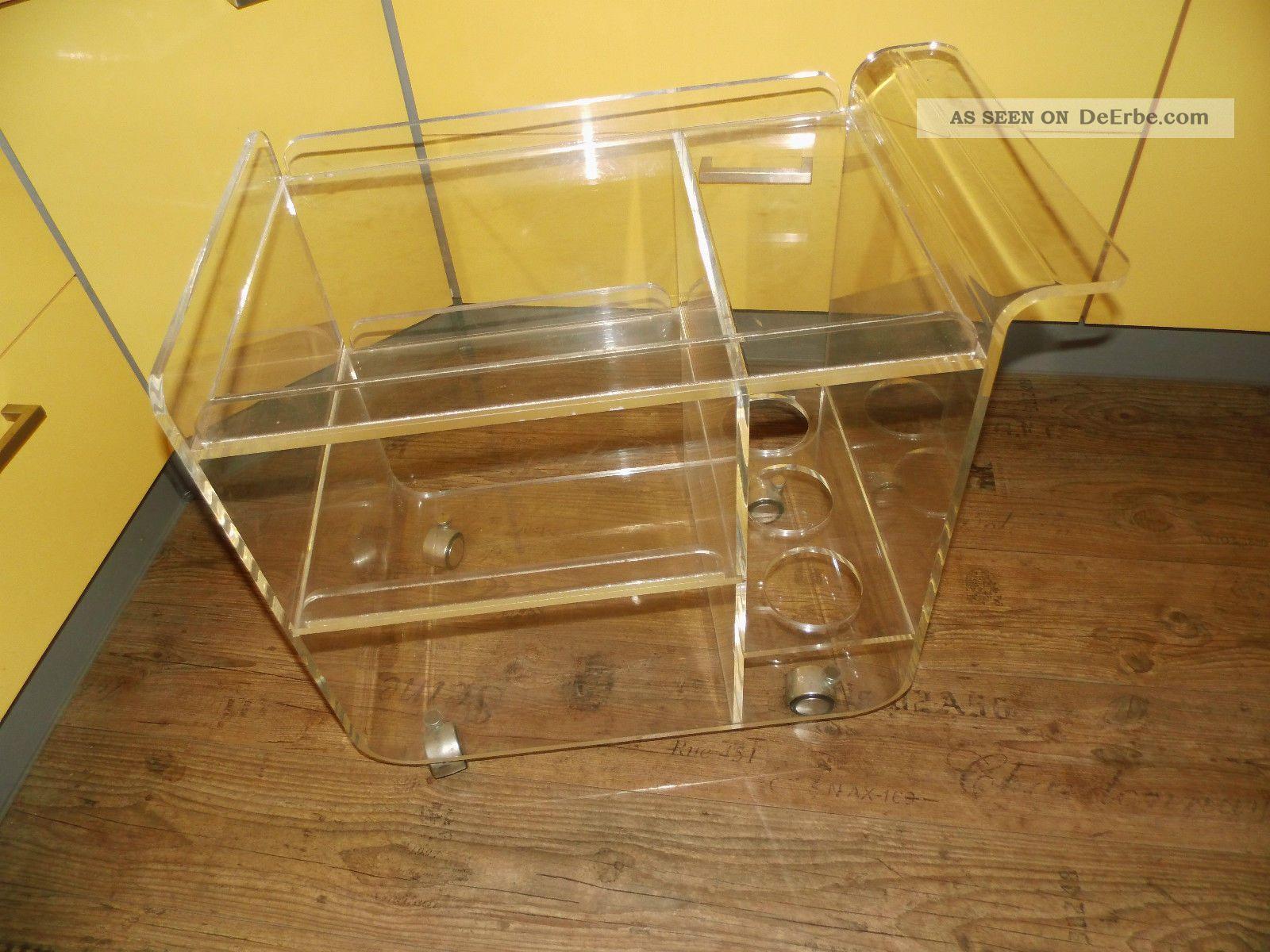 Er Jahre Barwagen Teewagen Dinett Acryl Plexiglas Couchtisch With Couchtisch  Plexiglas