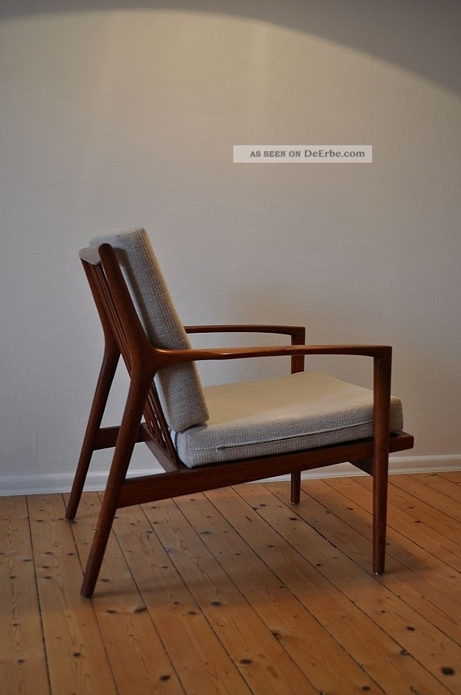 60er 60s teak easy chair sessel danish design mid century modern stuhl armchair. Black Bedroom Furniture Sets. Home Design Ideas
