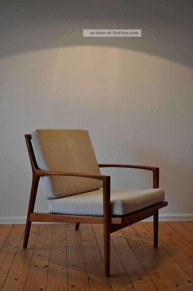 60er 60s teak easy chair sessel danish design mid century modern stuhl armchair. Black Bedroom Furniture Sets. Home Design Ideas