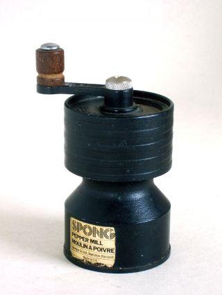 Vintage Spong England Metall Pfeffermühle Cast Iron Pepper Grinder Mill Bild