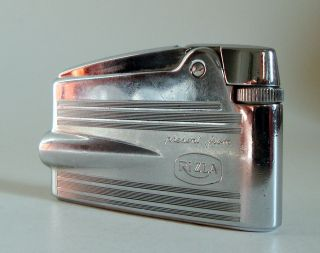 Ronson Present From Rizla England Feuerzeug Vintage Lighter Space Age 60er Top Bild