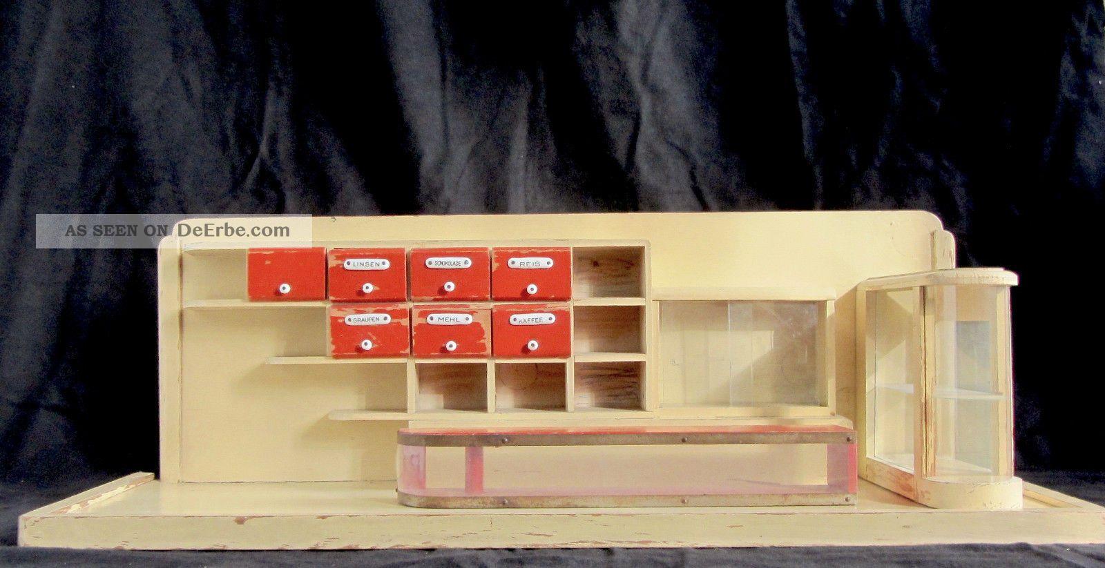Kaufladen 30er jahre im bauhaus look 78 x 28 x 26 cm for Neues bauen