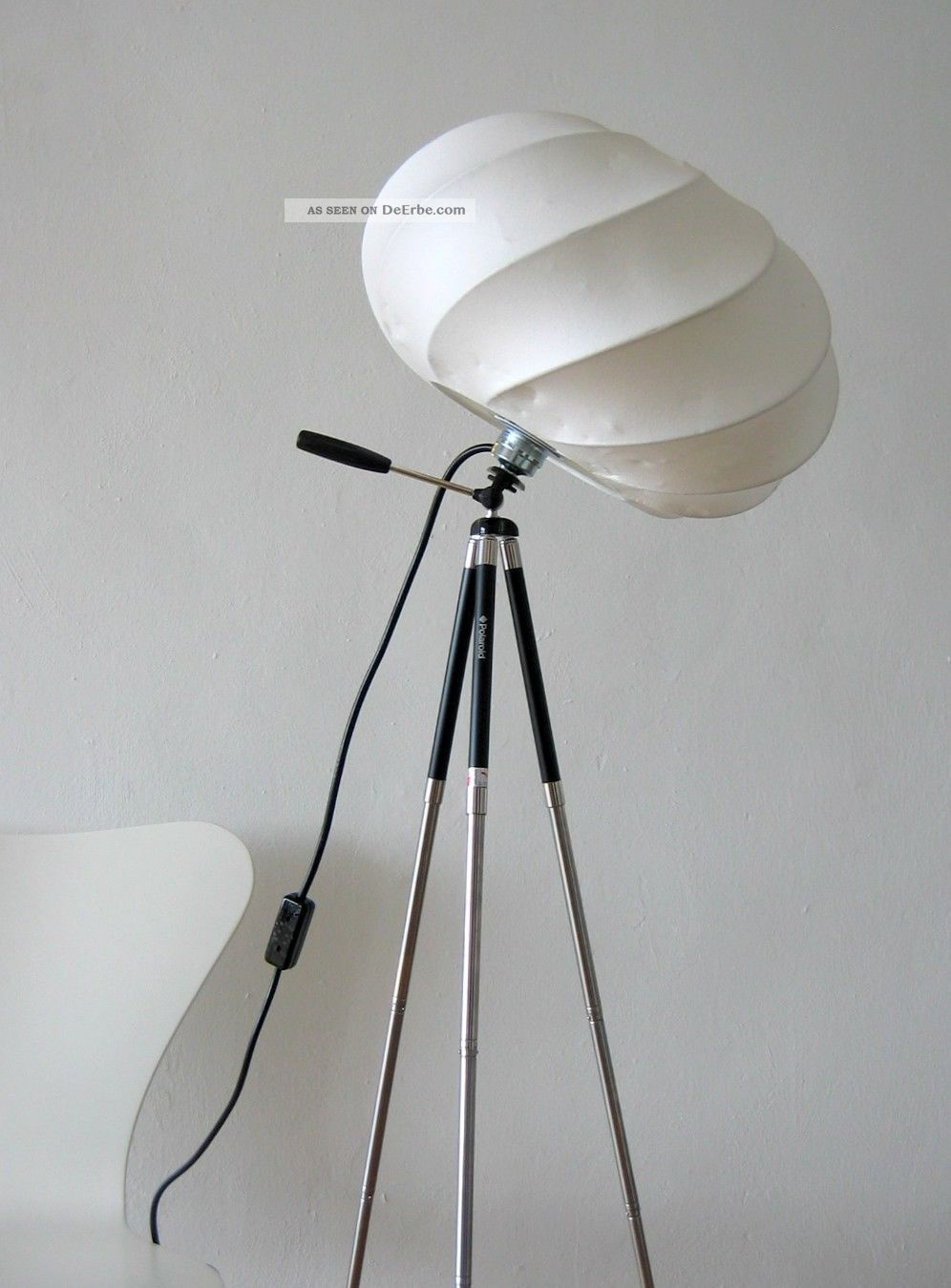 tripod cocoon stativ leuchte stehlampe castiglioni colani panton flos art. Black Bedroom Furniture Sets. Home Design Ideas