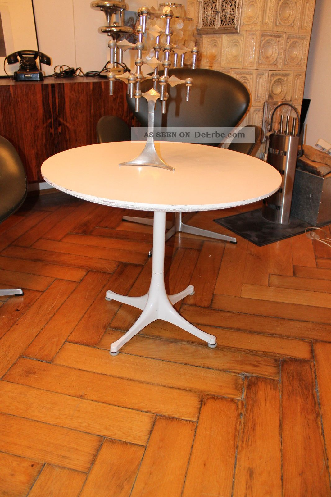 herman miller eames george nelson pedestal coffee table. Black Bedroom Furniture Sets. Home Design Ideas