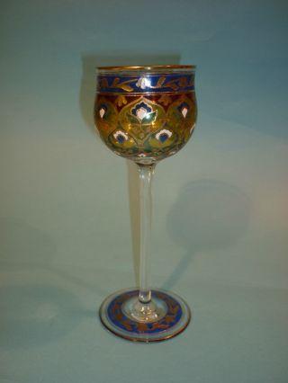 Jugendstil Weinglas Stengelglas Jodhpur Dekor Heckert Petersdorf Schlesien Nr.  2 Bild