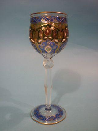 Jugendstil Weinglas Stengelglas Jodhpur Dekor Heckert Petersdorf Schlesien Nr.  1 Bild