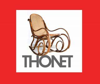 150 Jahre Alter Thonet Schaukelstuhl Um 1860 - Erstklassig Erhalten Bild