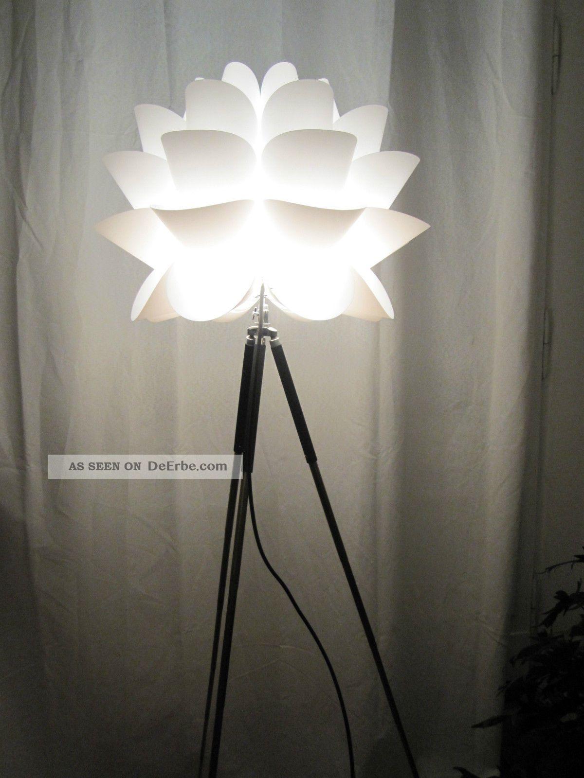 tripod loft steh lampe leuchte art deco bauhaus stativ 1960 1970 retro. Black Bedroom Furniture Sets. Home Design Ideas