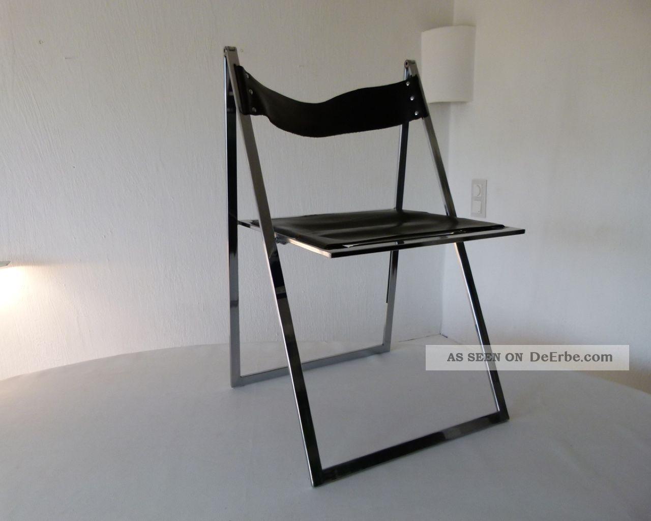 l bke interl bke design klappstuhl folding chair kernleder chrom klassiker. Black Bedroom Furniture Sets. Home Design Ideas