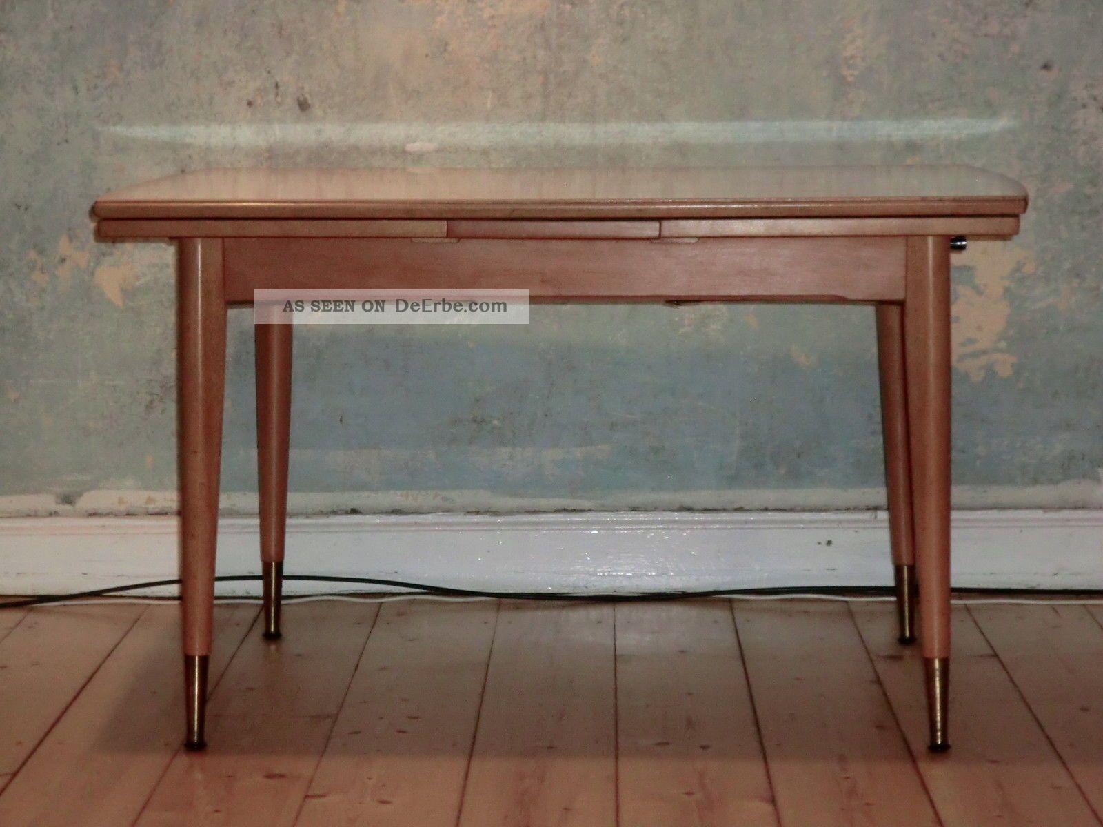 k chentisch couchtisch schreibtisch 50er 60er jahre h henverstellbar ausziehbar. Black Bedroom Furniture Sets. Home Design Ideas