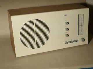 Braun Design Radio,  Rt20c (clairtone,  Sehr Selten) Spielbereit. Bild