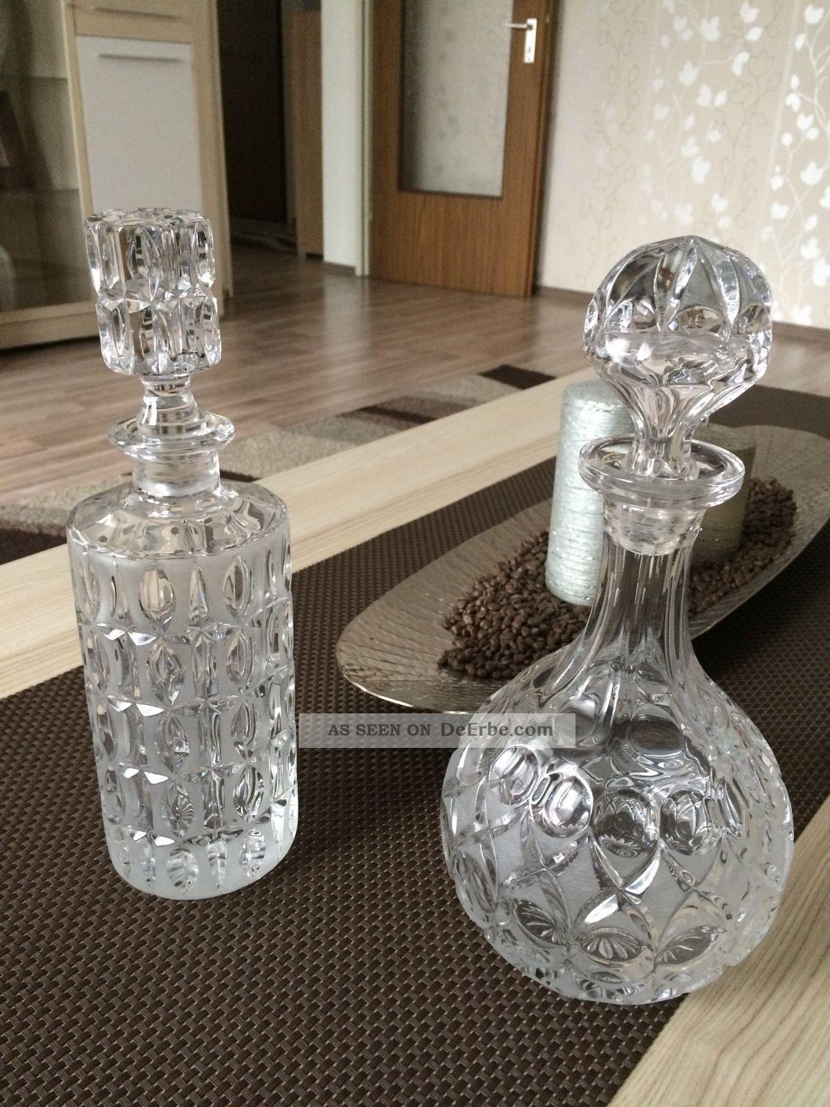Kristall Glas Flaschen Kristall Bild