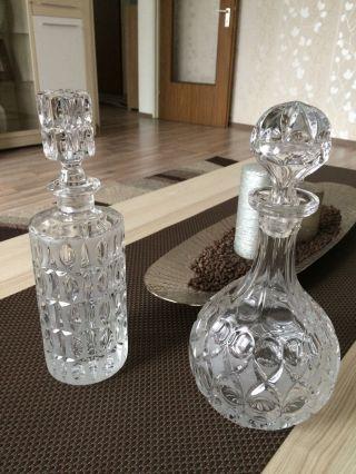 Kristall Glas Flaschen Bild