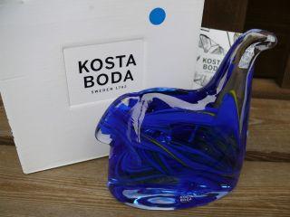 Kosta Boda Sweden Glasfigur Horse Blue Glas Blau Pferd Tier Glasobjekt Schweden Bild