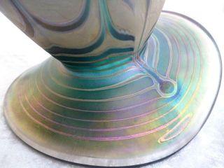 Große Irisierende Glas Vase Erwin Eisch Frauenau 89 Im Jugendstil Signiert Top Bild