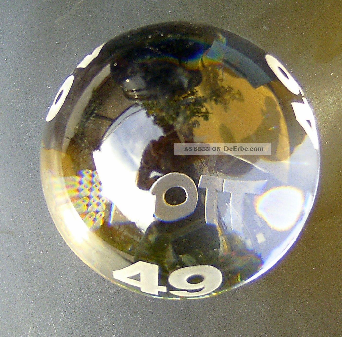 Villeroy & Boch Briefbeschwerer Paperweight Ovp Sonderedition Lotto 6 Aus 49 Dekorglas Bild