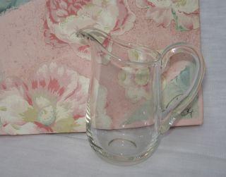 Zartes Milchkännchen Aus Glas 11,  5 Cm Hoch (mundgeblasen ?) Unbenutzt Bild