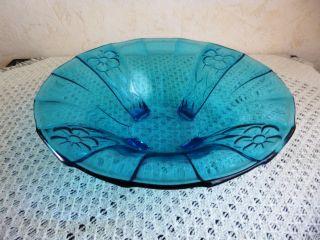 1 Alte Glasschale,  Pressglas,  Blau,  (2101) Bild
