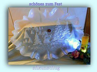 Schönes Zum Fest - Stollenteller Kristallglas Von Walther Glas / Bild