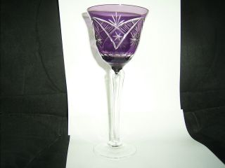 Römer - Weinglas - Lila Fliederfarben Kristall Geschliffen 20 Cm Bild