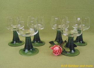 6 Hübsche Seltene Römer Gläser Rotweingläser Weingläser Wein Glas 0,  2 Vintage Bild