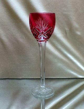 Art Deco Römer Überfangglas Weinglas Aus Kristall Bild